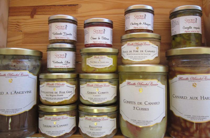 Confits, foies gras, tartinades, ...
